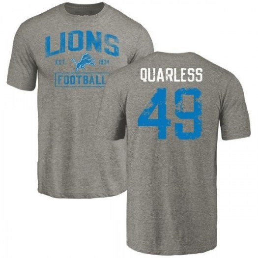 Andrew Quarless Detroit Lions Youth Gray Distressed Name & Number Tri-Blend T-Shirt